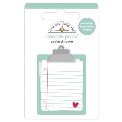 Doodlebug Love Notes Doddle-Pops Cardstock Sticker - Love Notes