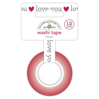 Doodlebug Love Notes Washi Tape - Love You