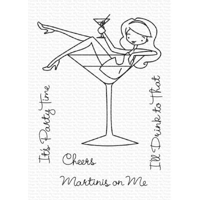 My Favorite Things Clear Stamps - Martinis on Me