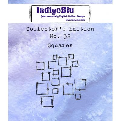 IndigoBlu Rubber Stamp - Collector's No.32 Squares