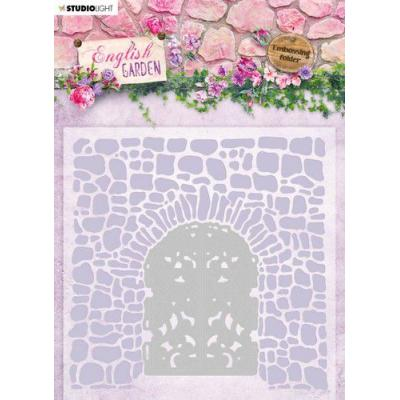 StudioLight English Garden Embossing Folder With Die - nr.03