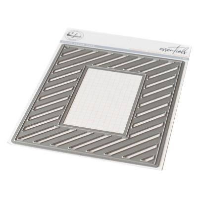 Pinkfresh Studio Essentials Die - Fancy Diagonal Stripes W/Window