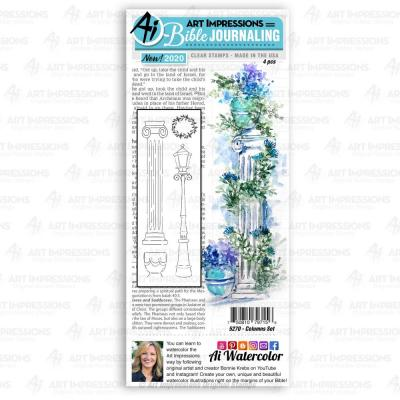 Art Impressions Bible Journaling Clear Stamps - Columns