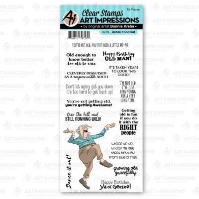 Art Impressions Laugh Lines Stamps - Dance It Out