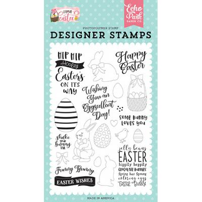 Echo Park Clear Stamps I Love Easter - Funny Bunny