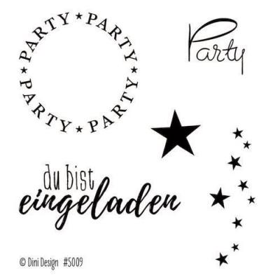 Dini Design Clear Stamps deutsch - Party