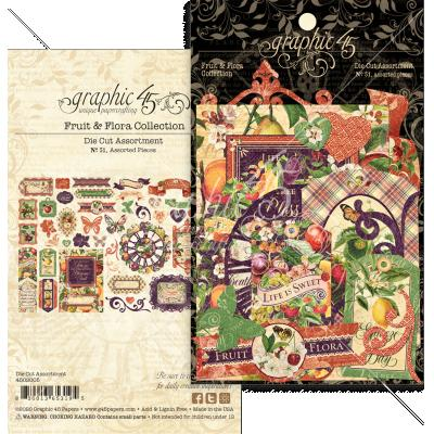 Graphic 45 Fruit & Flora - Die Cut Assortment