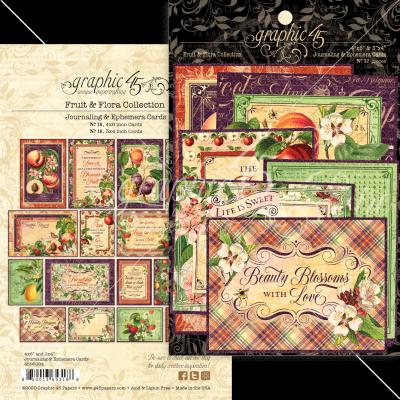 Graphic 45 Fruit & Flora Die Cuts - Ephemera & Journaling Cards