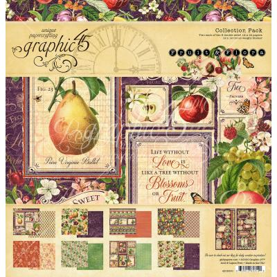 Graphic 45 Fruit & Flora Designpapier - Collection Pack