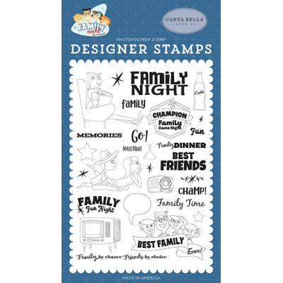 Carta Bella Family Night Clear Stamps - Family Time