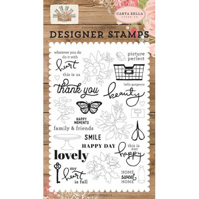 Carta Bella Farmhouse Market Clear Stamps - Happy Moments