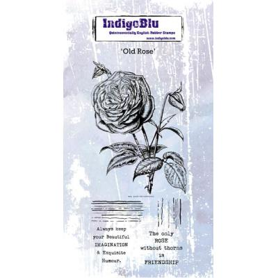IndigoBlu Rubber Stamps - Old Rose