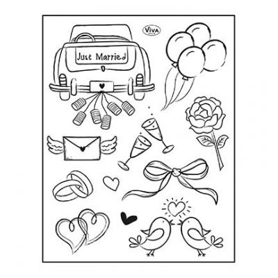 ViVa Clear Stamps - Just Married