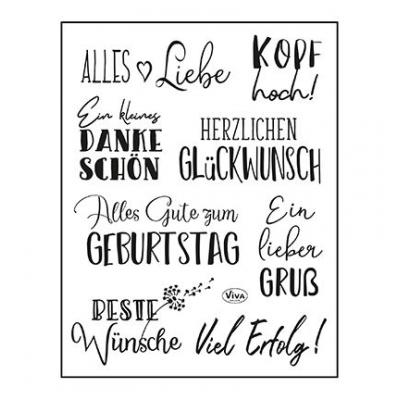 ViVa Clear Stamps deutsch - Alles Liebe