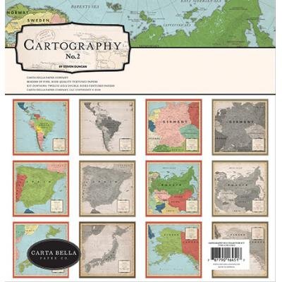 Carta Bella Cartography No. 2 Designpapier - Collection Kit