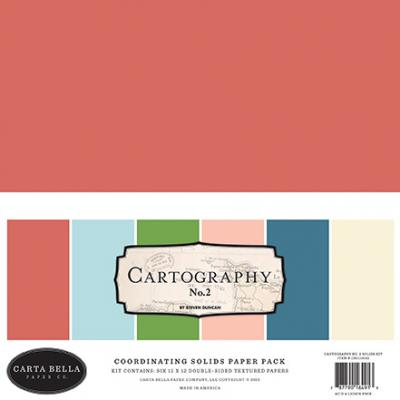 Carta Bella Cartography No. 2 Cardstock - Solids Kit