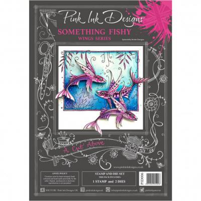 Creative Expressions Pink Ink Clear Stamp & Die - Something Fishy