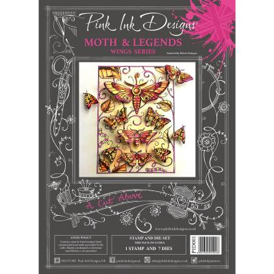 Creative Expressions Pink Ink Clear Stamp & Die - Moth & Legends