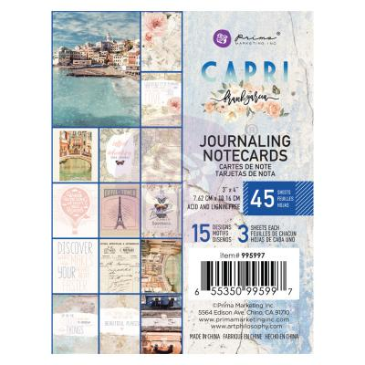 Prima Marketing Capri - Journaling Cards