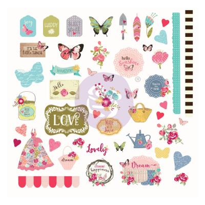 Prima Marketing Butterfly Bliss Die Cuts - Ephemera