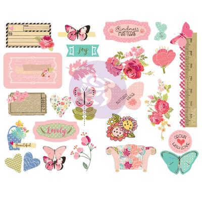Prima Marketing Butterfly Bliss Die Cuts - Chipboards