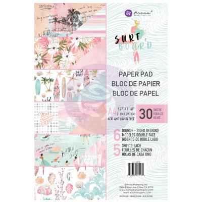 Prima Marketing Surfboard Designpapier - Paper Pad
