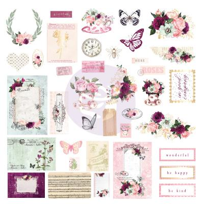Prima Marketing Pretty Mosaic Die Cuts - Ephemera