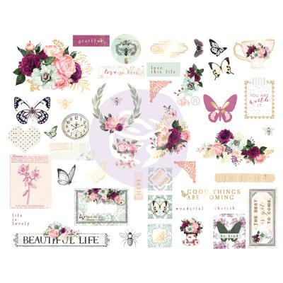 Prima Marketing Pretty Mosaic Die Cuts - Chipboard
