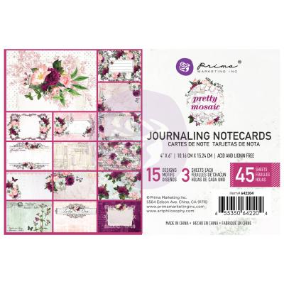 Prima Marketing Pretty Mosaic - Journaling Cards 4 x 6