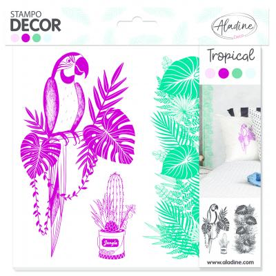 Aladine Bullet Decor Foam Stamps - Tropical