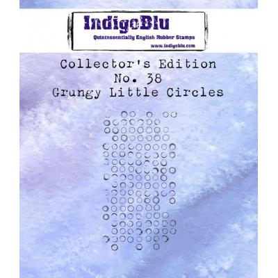 IndigoBlu Rubber Stamp - Grungy Little Circles