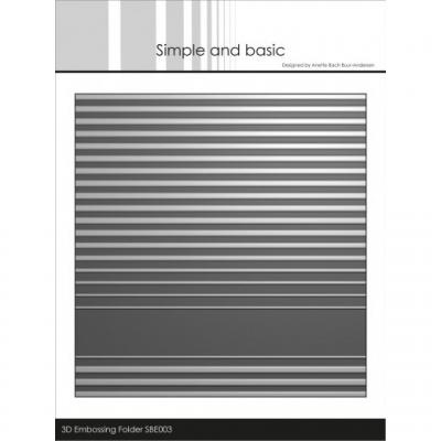 Simple and Basic 3D Embossing Folder - Stripes
