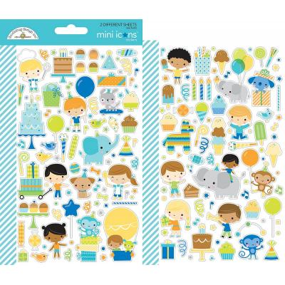 Doodlebug Party Time - Mini Icons Sticker