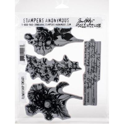 Stampers Anonymous Tim Holtz Cling Stamps - Flower Shop