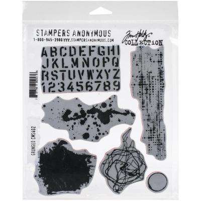 Stampers Anonymous Tim Holtz Cling Stamps - Grunged
