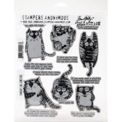 Stampers Anonymous Tim Holtz Cling Stamps - Snarky Cat