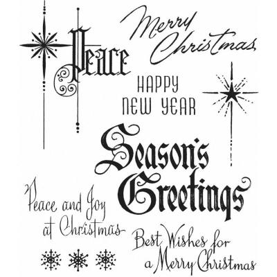 Stampers Anonymous Tim Holtz Cling Stamps - Christmastime 2