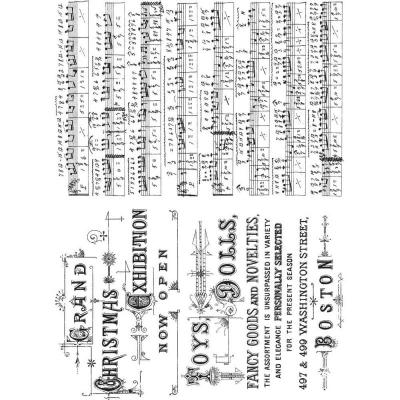 Stampers Anonymous Tim Holtz Cling Stamps - Music & Advert