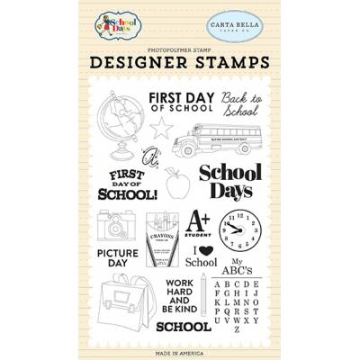 Carta Bella School Days Clear Stamps - School Days