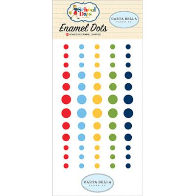 Carta Bella School Days Embellishments - Enamel Dots