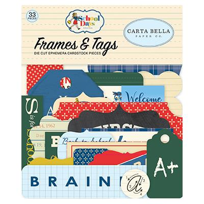 Carta Bella School Days Die Cuts - Frames & Tags