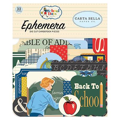 Carta Bella School Days Die Cuts - Ephemera