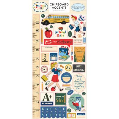 Carta Bella School Days Stickerbogen - Chipboard Accents