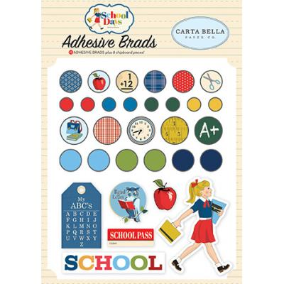 Carta Bella School Days Embellishments - Adhesive Brads