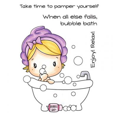 C.C. Designs Clear Stamps - Bubble Bath Swissie