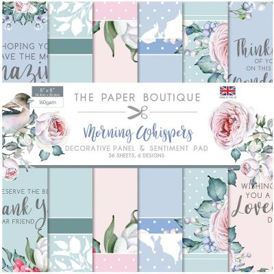 The Paper Boutique Morning Whispers  Designpapier - Decorative Panel & Sentiment Pad