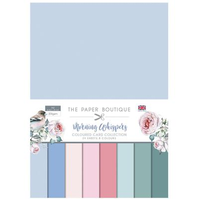 The Paper Boutique Morning Whispers  Cardstock - Coloured  Card Collection