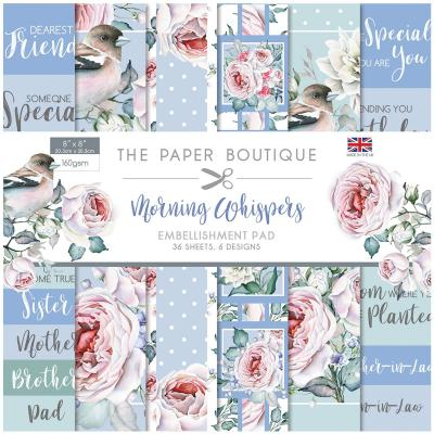 The Paper Boutique Morning Whispers  Designpapier - Embellishment Pad