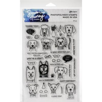 Simon Hurley Create Cling Stamps - Puppy Puns
