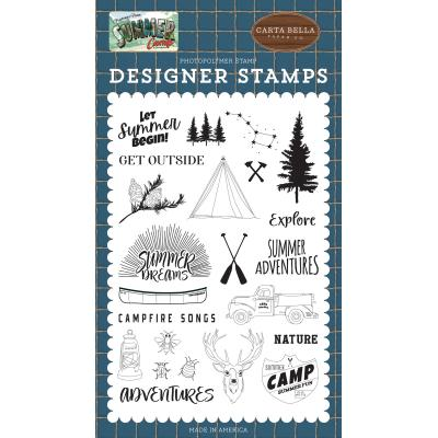 Carta Bella Summer Camp Clear Stamps - Let Summer Begin